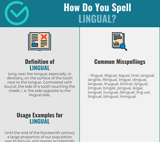 Correct spelling for lingual