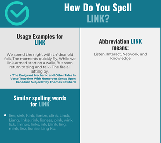 Correct spelling for link