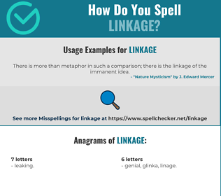 Correct spelling for linkage