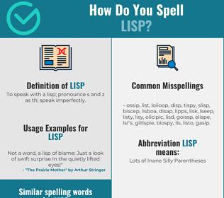 Correct spelling for lisp