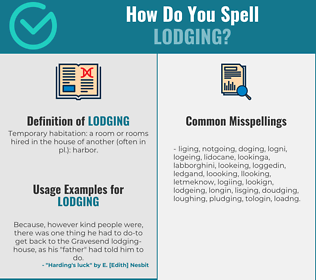 Correct spelling for lodging