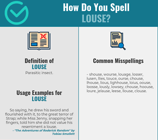 Correct spelling for louse