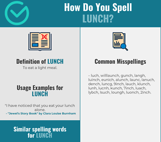Correct spelling for lunch