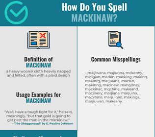 Correct spelling for mackinaw