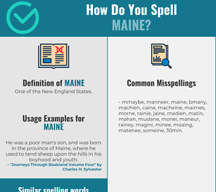 Correct spelling for maine