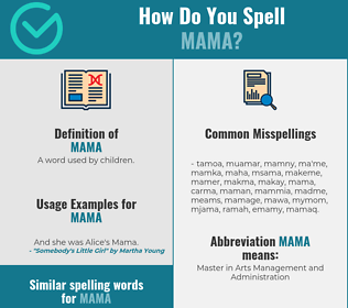 Correct spelling for mama