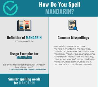 Correct spelling for mandarin