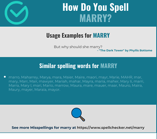 Correct spelling for marry