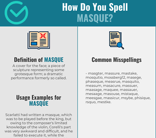 Correct spelling for masque