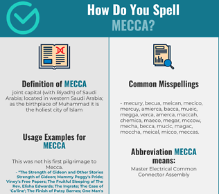 Correct spelling for mecca