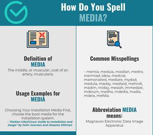 Correct spelling for media