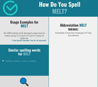 Correct spelling for melt