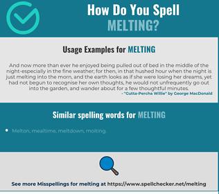 Correct spelling for melting