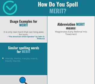 Correct spelling for merit