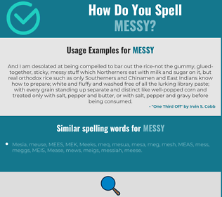 Correct spelling for messy