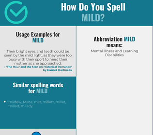Correct spelling for mild