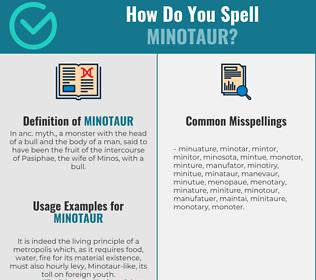 Correct spelling for minotaur