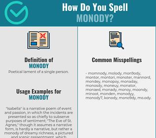 Correct spelling for monody