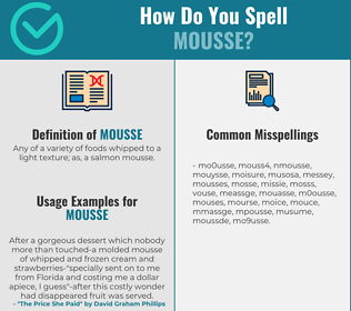 Correct spelling for mousse