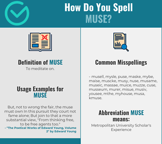 Correct spelling for muse