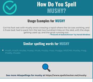 Correct spelling for mushy