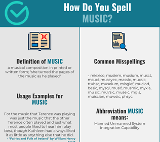 Correct spelling for music