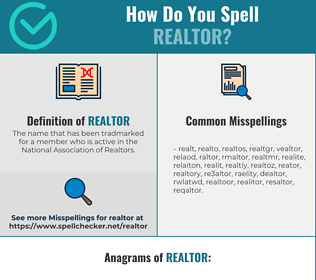 Correct spelling for realtor