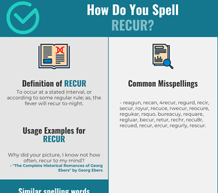 Correct spelling for recur