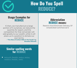 Correct spelling for reduce