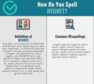 Correct spelling for regret
