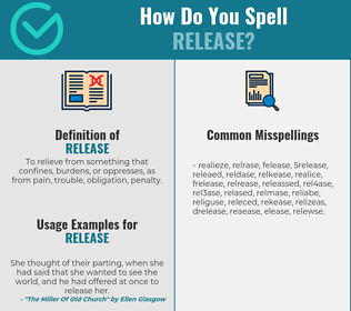 Correct spelling for release