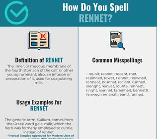 Correct spelling for rennet