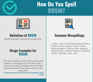Correct spelling for rosin