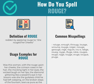 Correct spelling for rouge