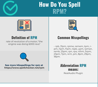 Correct spelling for rpm