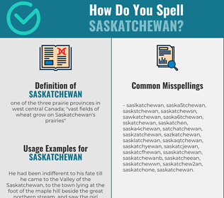 Correct spelling for saskatchewan