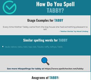 Correct spelling for tabby