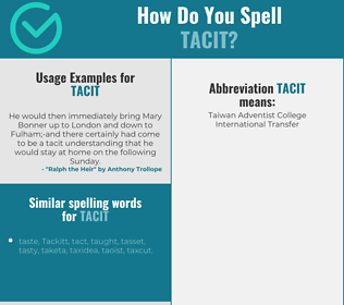 Correct spelling for tacit