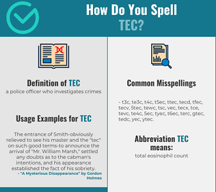 Correct spelling for tec