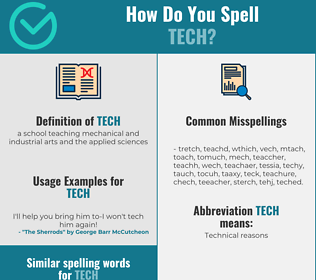 Correct spelling for tech