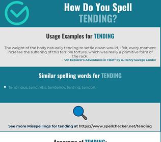 Correct spelling for tending