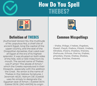 Correct spelling for thebes