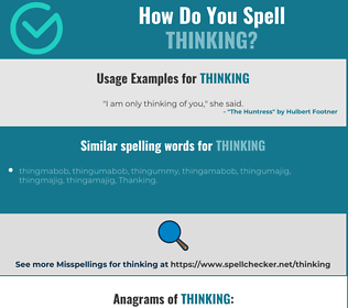 Correct spelling for thinking