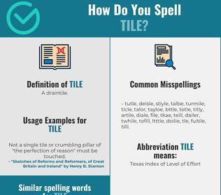 Correct spelling for tile