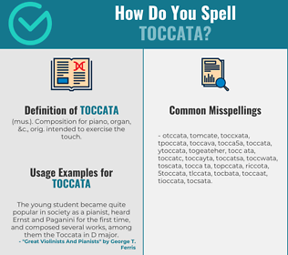 Correct spelling for toccata
