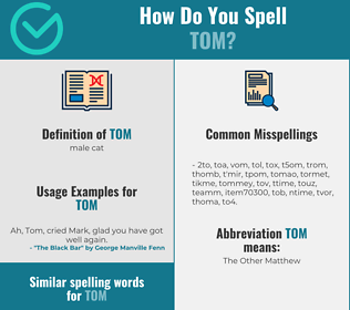 Correct spelling for tom