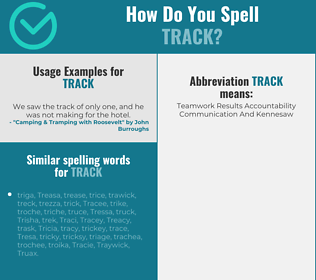 Correct spelling for track