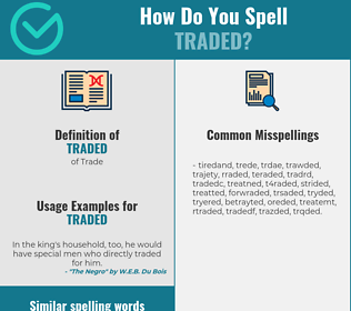 Correct spelling for traded