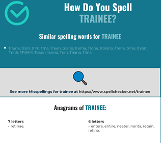 Correct spelling for trainee