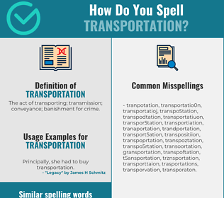 Correct spelling for transportation